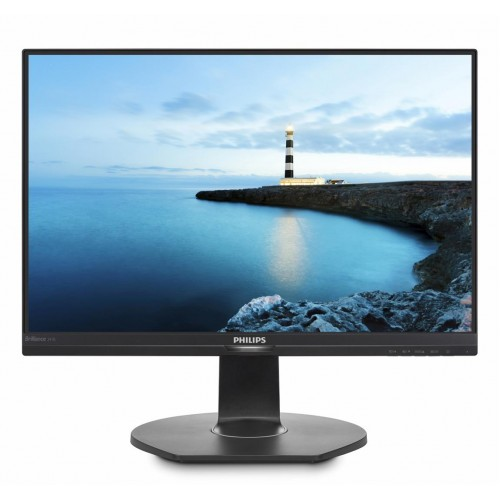 "Monitor 23.8"" PHILIPS 241B7QPJEB, FHD, IPS, 16:9, 1920* 1080, 60hz, WLED, 5ms GTG, 250 cd/m2, 178/178, 20M:1/ 1000:1, Flicker Free, HDMI, VGA, USB, DP, VESA, Speakers, pivot, Kensington lock, Black      ND"