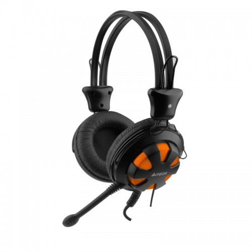 CASTI+MIC A4TECH HS-28 ORANGE/BLACK ND