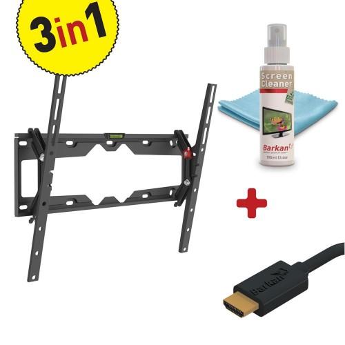 TILT FLAT/CURVED TV MOUNT+SCREEN CLEANER ND