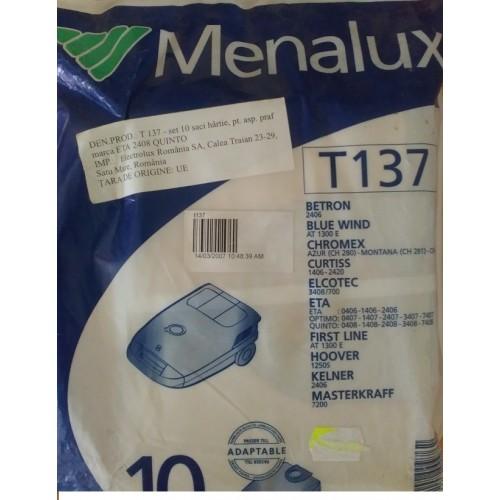 set saci hartie aspirator Menalux T137